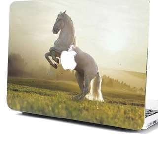 "Wild Running Horse Hard Rubberized Case Cover For MacBook Air Retina 12"" Pro 13"""