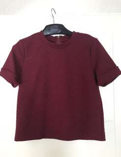 MDS blouse maroon