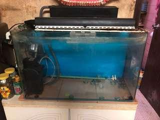 魚缸 75*30*451 1cm厚玻璃 包濾水器 燈 氣泵