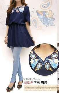 Sale Blouse Navy