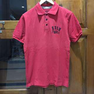 Red Hush Puppies Polo