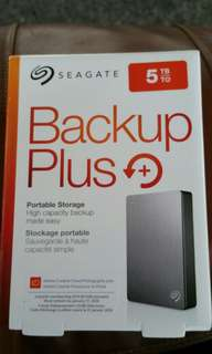 "Seagate 5TB Portable External HDD Hard Disk Drive Backup Plus 5.0 TB external 2.5"" Portable"