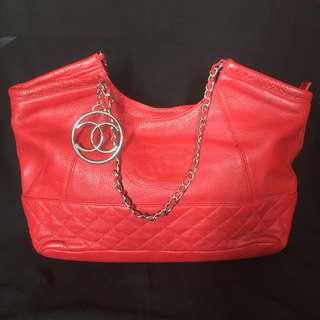Chanel red chain super premi