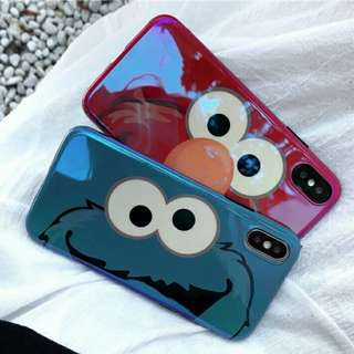 🚚 ⚠Pre-order! Cute Elmo & Cookie Monster Pocket fully wrapped soft phone cover IPhone 6, 6s, 6 plus, 6s Plus, 7, 7 plus, 8, 8 Plus & X!