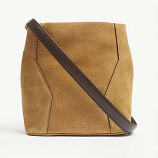 SANDRO Yza suede bucket bag