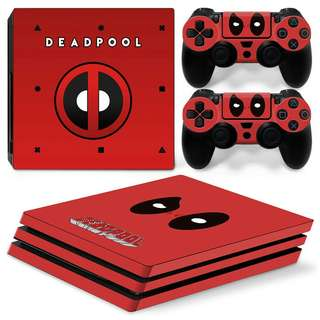 The Deadpool Body Skin Sticker for PS4 PRO
