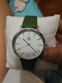 全新變色錶帶+白色銀圈 SK 典雅 38MM 錶