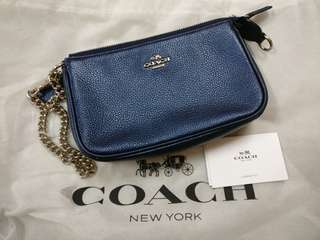 Coach Wristlet with chain sling