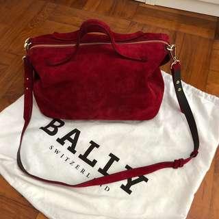 Bally紅色猄皮手提包