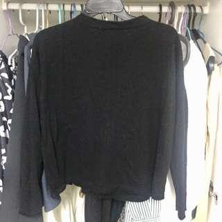 Giordano Ladies cashmere black cardigan