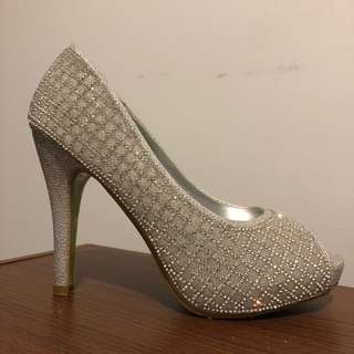 Finikee Silver Wedding Shoes