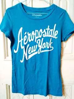 🚚 美國品牌aeropostale aero 休閒字母印花短袖T恤上衣 桃紅色 湖水藍色 非hollister a&f roots