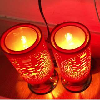 Traditional Wedding Lamps (婚礼红色喜字+百年好合床头灯)