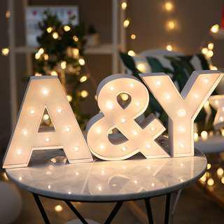 RENTAL: D143 ALPHABETS LIGHTS (A-Z + &)