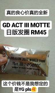 GD ACT III MOTTE IN JAPAN MERCHANDISE