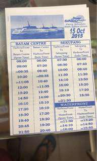 🚚 Batam Ferry Tickets - E tickets or Physical Tickets