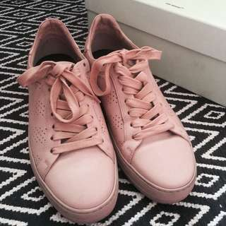 Authentic Off-White Light Pink Perforated Sneakers