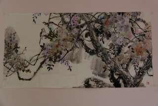 紫韵图 广西民革画院副院长陈曲画