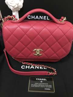Chanel Flag Bag in Red with calfskin