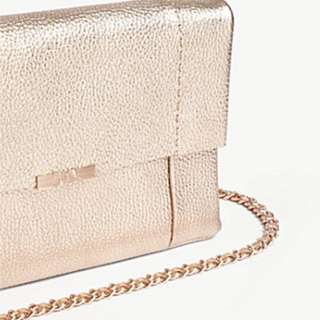 TED BAKER Parson metallic leather cross-body bag