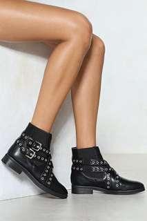 Nastygal Black boots size 8