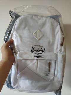 NEW Herschel white backpack bagpack