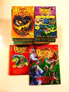 Beast Quest Book Series set of 30 softbound books plus 2 Special edition hardbound books