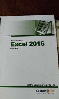 Microsoft Excel Pivot Table 2016