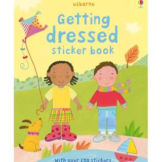 🚚 Usborne: Getting dressed sticker book