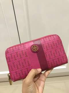 Authentic Tory Burch Pink Leather Wallet (Preloved)