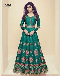 Dignified Melbourne Silk Embroidered Anarkali Salwar Kameez