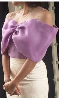 Bow Blouse Soft Purple