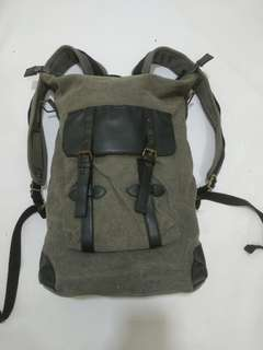 Bagpack Canvas mix Leather Yellow