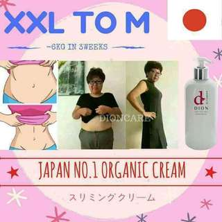 Xxl to M size cream
