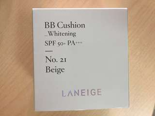 🚚 Laneige BB Cushion Whitening No.21 Beige Compact + Refill