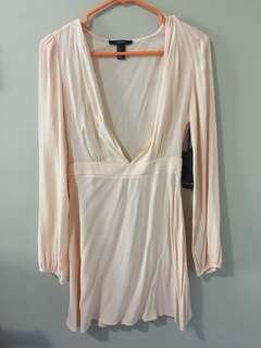 Nude Low Cut Dress