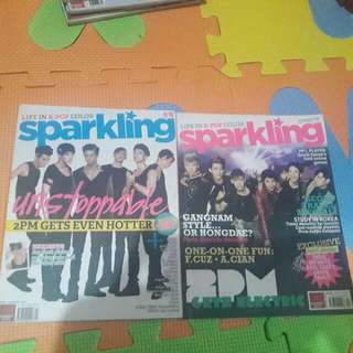 2PM/Park Shin Hye/4minute Sparkling Issues