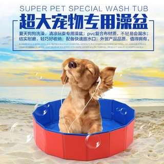 🚚 清涼一下寵物泳池 狗狗洗澡盆可折叠浴盆寵物游泳池浴缸泡澡桶寵物用品