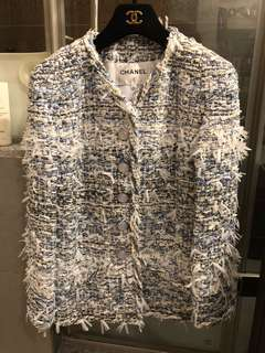 Chanel tweed jacket 2018 style