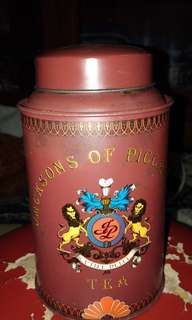 Jacksons of Piccadilly tea tin container