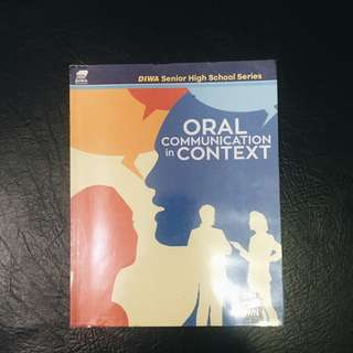 SHS BOOK: Oral Communication in Context
