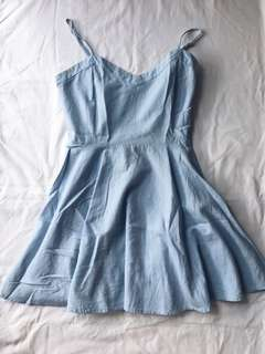 Denim soft blue dress