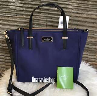 Authentic Nwt Kate Spade Alyse Wilson Road French Navy