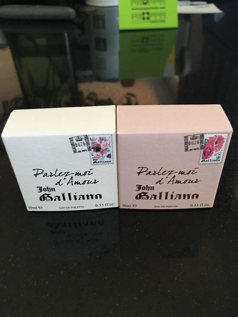 2 John Galliano mini perfumes 10 Ml each