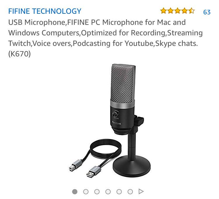 455•USB Microphone,FIFINE PC Microphone for Mac and Windows