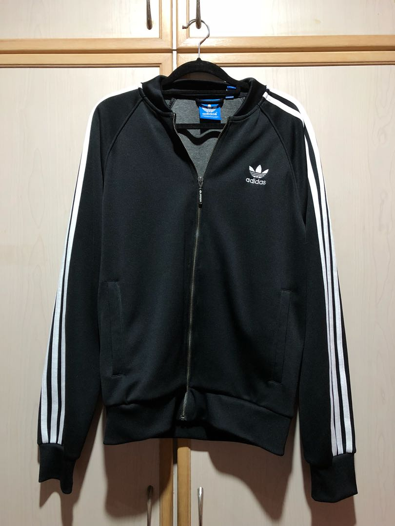 9a2b7349dee2 Adidas Classic 3 Stripes Black Jacket
