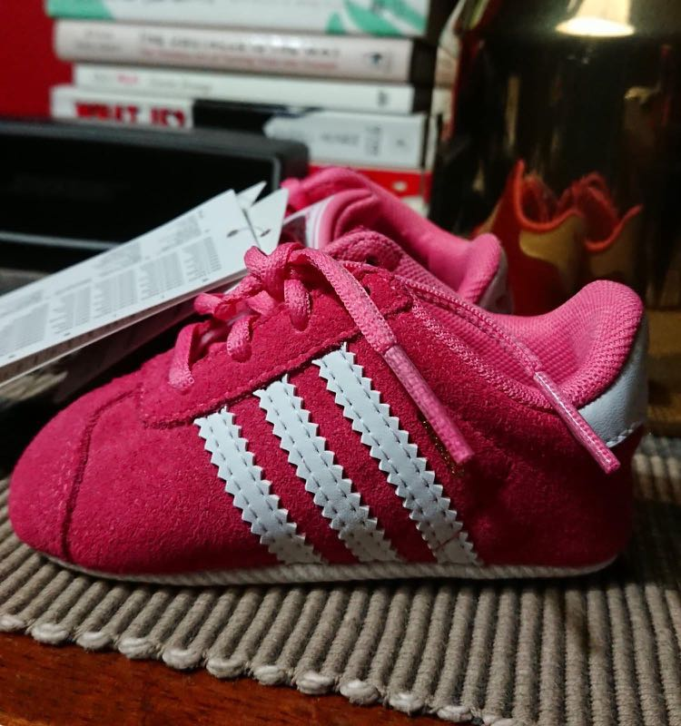 brand new a7841 79499 Adidas Gazelle Crib Pink US3K, Babies   Kids, Babies Apparel on Carousell