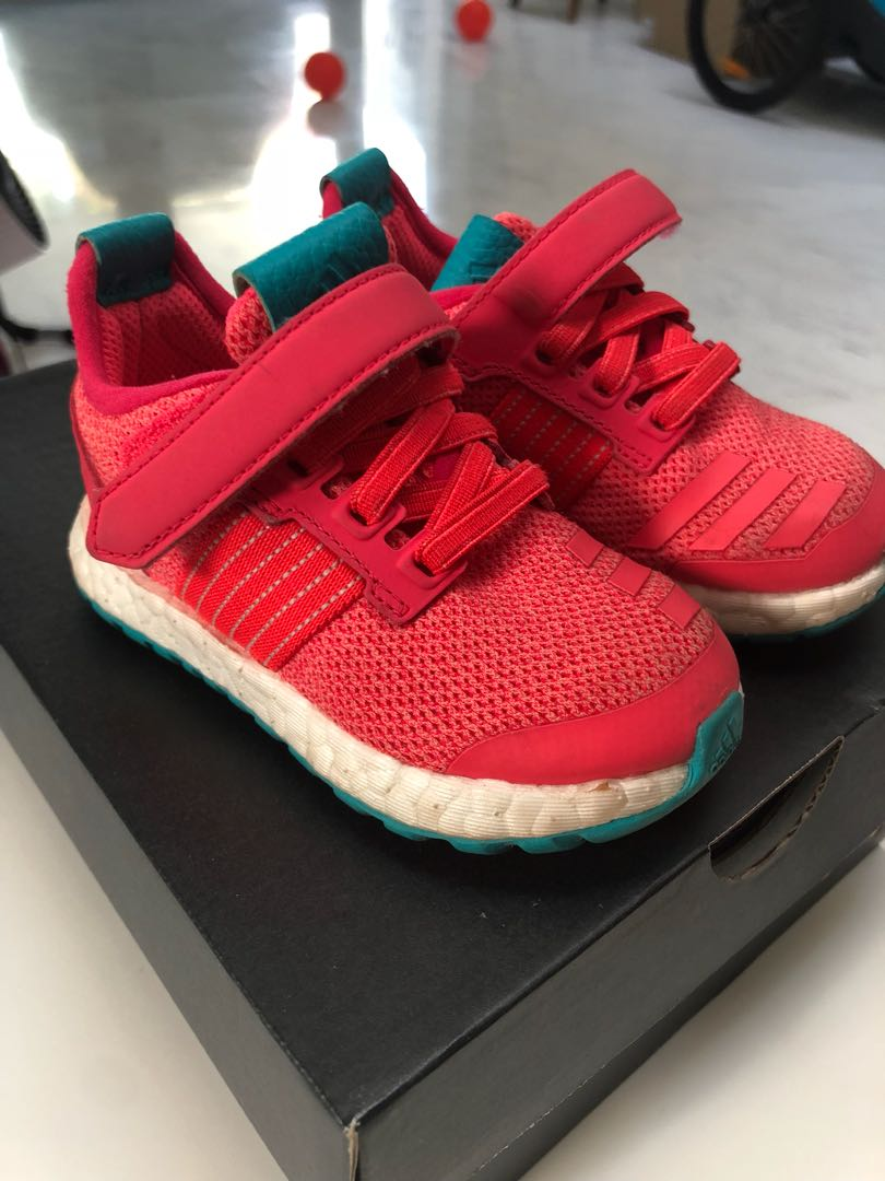 141d9f4f23 Adidas pure boost zg I pink girls kids toddler