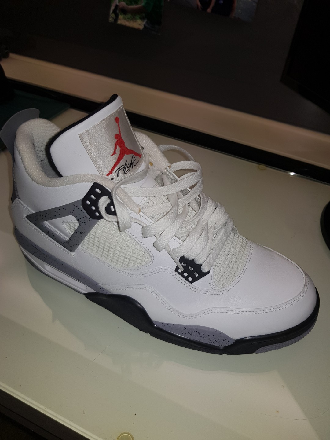2f35ec4c1 AIR JORDAN 4 WHITE CEMENT US11 from goat.com