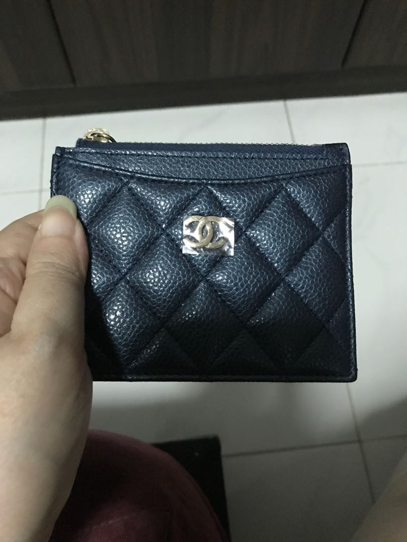 e995f8f6809888 Authentic Chanel Zip Cardholder 18S, Luxury, Bags & Wallets, Wallets ...
